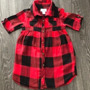 Old Navy flannel look shirt dress